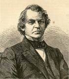line drawing of Vice President Andrew Johnson