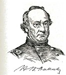 line drawing of General Henry W. Halleck