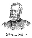 line drawing of General Oliver Otis Howard