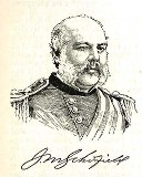 line drawing of General John M. Schofield