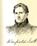 line drawing of General Winfield Scott