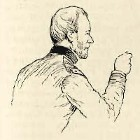 line drawing of General William T. Sherman